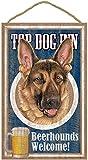 (sjt27937) Deutscher Schäferhund, Top Dog Inn 25,4x 40,6cm Holz Plakette, Schild