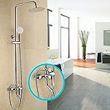 sdkky Duschkabinen, Luxus Dusche, alle Kupfer Material Hot und kalte Dusche