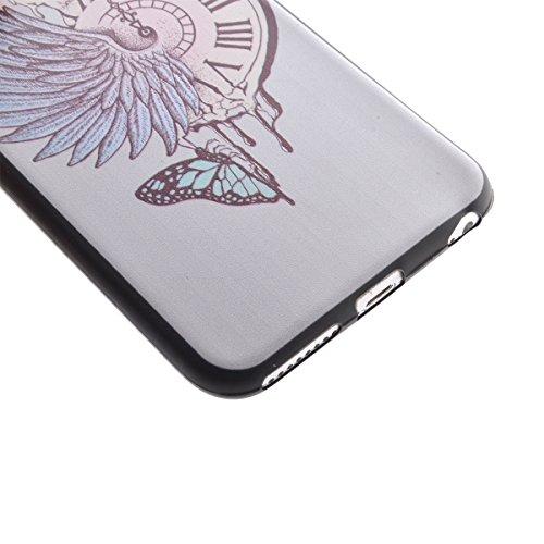 Felfy Hülle für iPhone 6S Plus,iPhone 6S Plus Case Crystal Hülle Klare Ultradünne Silikon Gel Schutzhülle Durchsichtig Muster Kristall Transparent TPU Silikon Schutz Handy Hülle Case Tasche Etui Bumpe Taschenuhr