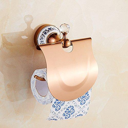 ZYJYfreie europäische stiletto rose gold handtuchhalter antikes bad wasserdicht toilettenpapierhalter gewundenen umhauen mauer