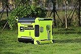 Hortipower Generador de Corriente Inverter Portátil 3000W Gasoline Pure Sine Arranque...