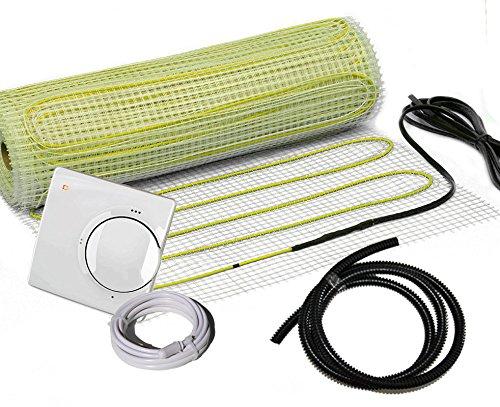 Premium elektrische Fußbodenheizung Set NZ-160 analog (2.0 m² - 0.5 m x 4 m)