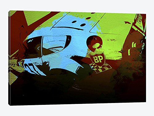 iCanvasART Ferrari Watercolor II by Naxart Canvas Print, 18
