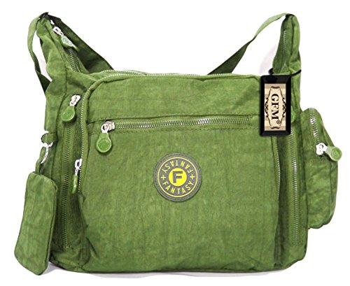 Comprar Barato Finishline Da donna GFM resistente misura media multiuso Tessuto in Nylon borsa a tracolla Style 1 - Olive Green (JTN07). Excelente Línea Remoción De Muchos Tipos De Pes76z