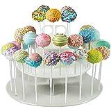 Birud Round: 3-Tier 42 Holes Plastics Cake Pop Lollipop Cupcake Display Stand Wedding Party Decor Candy Stand Cake Tool Birth