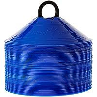 Precision Space - Cono de fútbol (set de 50), color azul, talla 20 cm