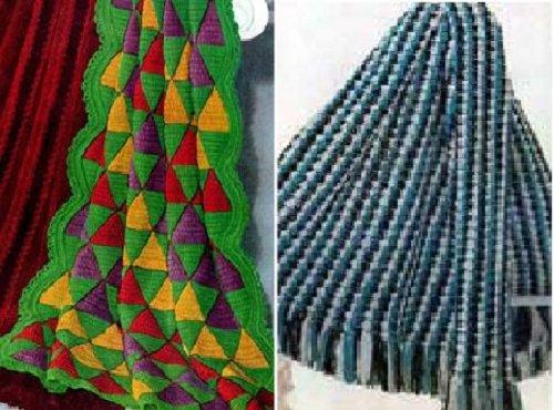 Vintage afganos a ganchillo por Unknown