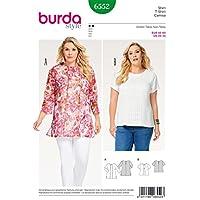 Burda 6552 Schnittmuster Shirt und Bluse (Damen, Gr. 40-60) Level 2 leicht