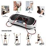 SVNA Vibrationsgeräte Fitness-Vibrationsplattform 120-Gang-Magnet-Massage Drahtlose Bluetooth-Stummschaltung für Massageübungen,White - 5