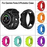 Prom-near Silikon Schutzhülle Schutzhülle für Garmin Fenix 3 Fenix 3 HR Quatix 3 Smart Watch (Black) Vergleich