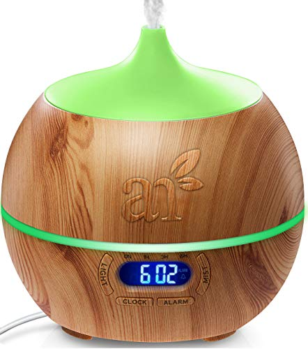 ArtNaturals Difusor de Aceites Esenciales - 400ml - Bluetooth Humidificador Ultrasónico Aromaterapia - 7-Color LED - Para Hogar, Oficina, Dormitorio y Baño
