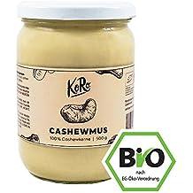 KoRo ● Cashewmus Bio ● 500 g ● Ohne Zuckerzusatz ● Ohne Zusätze ● Vegan ● Brotaufstrich ● Nussmus ● Aus 100% Cashewkernen ● Nuss Creme