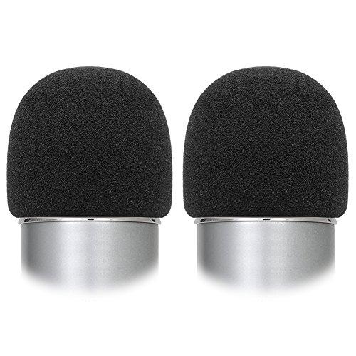 InnoGear Mikrofon Popshutz für Blue Yeti, 2 Stück Wind pop Filter, Große Schaum Mikrofon Windschutz, 64mm Durchmesser, Schwarz - Yeti Blue Mikrofon-pop-filter