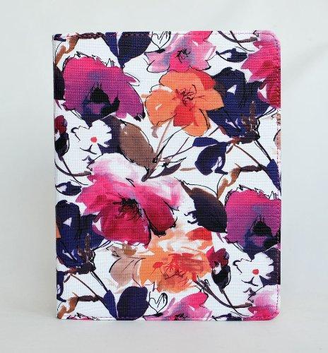 inShang ipad Pro 10.5 Hülle Cover für iPad Pro 10.5 inch (2017) , PU Leder Schutzhülle St?nder Smart Cover mit Super Automatische Einschlaf-/Aufwach funktion, case 360 Grad rotierende Schutzhülle mit  flower - 2in1 - Spring red