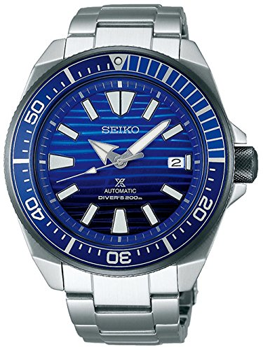 Seiko Prospex Automatic Movement Analogue Blue Dial Stainless Steel Band Watch Men's Watches at amazon