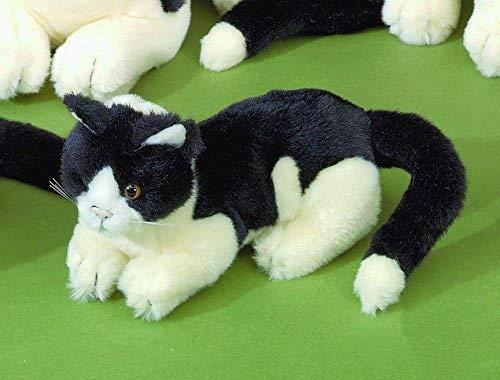 Förster Stofftiere 3470 schwarz-altweiße Katze liegend 20 cm