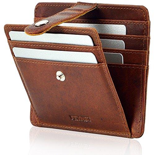 Echt Leder Herren Geldbörse Brieftasche Geldbeutel bis 21 Karten Kartenetui Kreditkarten Kreditkartenetui