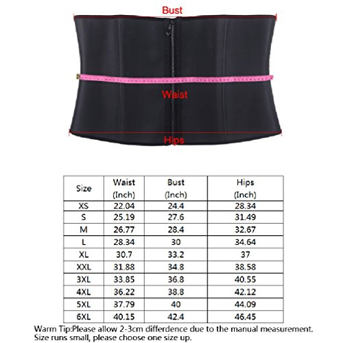 4be62bfa629 Burvogue Women s Sweat Slimming Neoprene Waist Trainer Belt Body Shaper