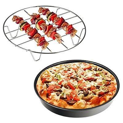 Balter Heiluftfritteuse Xxl Zubehrset Pizzaform Antihaft Grillrost Edelstahl Antrazit