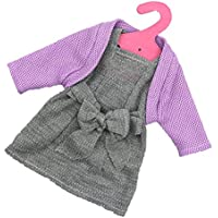 Handmade ärmelloses bedrucktes Kleid für 11 Zoll Puppen Zubehör