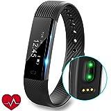 Fitness Tracker orologio con cardiofrequenzimetro, slim touch screen e polsini, indossabile...