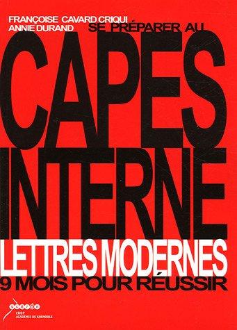 Se préparer au CAPES interne Lettres Modernes : 9 mois pour réussir