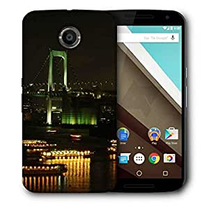 Snoogg City At Night Printed Protective Phone Back Case Cover For LG Google Nexus 6