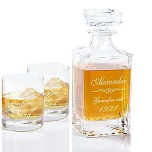Whiskykaraffe Luxus mit Gravur – personalisierte Whisky-Geschenke für Männer