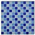 10x Glass Mosaik Fliesen Blau-weiß 0,9 qm von vidaXL auf TapetenShop
