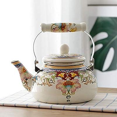 Bouilloire Émaillée Émaillée Bouilloire Bouilloire Émaillée 1,5 L Théière Cafetière Mère Pot Kung Fu Thé Thé Bouilli avec Couvercle