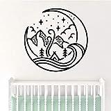 wukongsun Belle Montagne pour Chambre d'enfants Amovible Art Vinyle Stickers muraux Chambre Salon décoration Vinyle Stickers muraux Noir M 28 cm X 29 cm