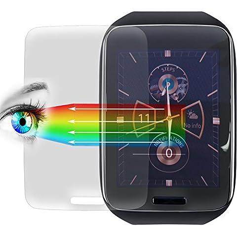 Protector de pantalla PROTOMAX para Samsung Galaxy Gear S, pantalla de accesorios o/para casco/Fitness Tracker, Protector de pantalla Protector de pantalla para Samsung Galaxy Gear S (3
