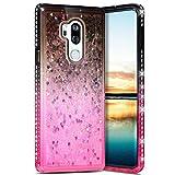 Robinsoni LG G7 ThinQ Liquide Coque Glitter de Luxe,Fille Coque Diamant Strass...