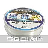 SODIAL(R) 10# 0.55mm Diameter 100M Thread 35Kg 77.1lb Fishing Line Spool