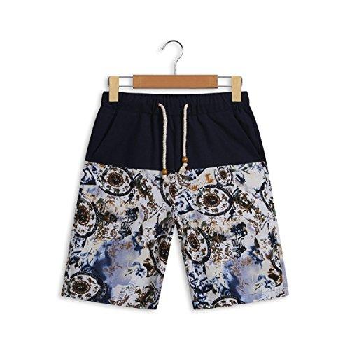 Vêtements Hommes Quick Dry Grands Chantiers Plage Détendu Décontracté Rafting Impression Swim Trunk Tailles Et Couleurs Assorties G