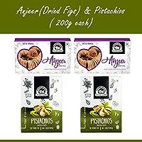 Wonderland Foods Premium Quality Anjeer & Roasted Salted Pistachio 800g (400g Each)