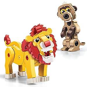 Bloco Animalia Lion & Meerkat Kit de construcción