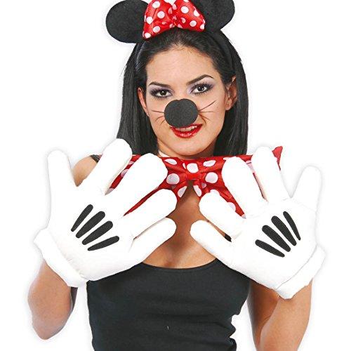 Mickey Handschuhe Maus Riesenhände Minnie Maus Riesenhandschuhe Paar Jumbo Handschuh Comichände Comic Figur Körperteile Karnevalskostüme (Maus Mickey Minnie Und Kostüm Maus)