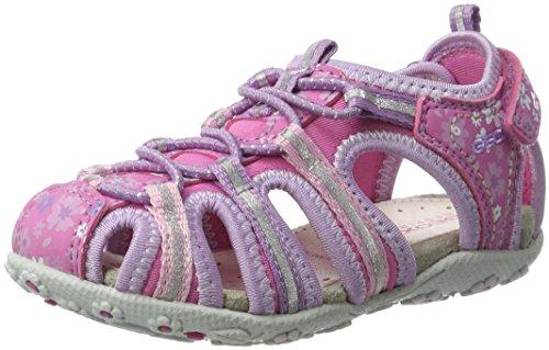 Geox Mädchen JR Sandal Roxanne C Geschlossene Keilabsatz, Pink (Fuchsia/LILACC8257), 28 EU