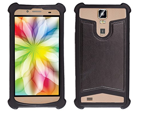 Shopme Shock proof,Silicon,Premium PU Leather Back cover for iBall Andi 5.5H Weber (Black Color) (Special Anti Shock Bumpers on all four sides , 360 degress Protection, Access to all Ports)  available at amazon for Rs.199