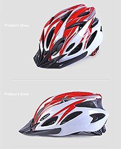 IREALIST Eco-Friendly Super Light Integrally Bike Helmet,Adjustable Lightweight Mountain Road Bike Helmets for Men and Women
