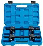 FreeTec–2piezas, tensor de muelle Juego de compresores profesional con maletín 300mm