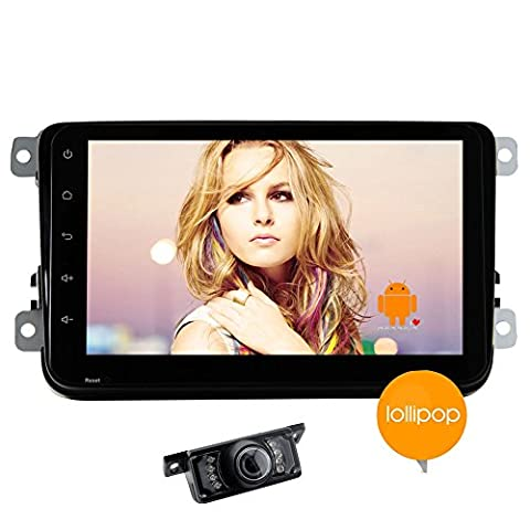 Quad-Core-Android 5.1.1 Doppel 2din VW Autoradio in Dash 8Inch Tablet-Steuerger?t f¨¹r Volkswagen Golf Passat Polo Jetta Tiguan mit HD-Multi-Touch-Screen-None-DVD-Spieler Autoradio Bluetooth FM AM RDS Receiver 3D-GPS-Navigations-Diagramm Canbus (8 Tab-diagramm)