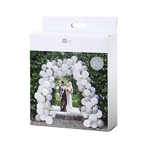 allon-Bogen für das Brautpaar, 80 Ballons (mit 15 Meter Schnur) ()