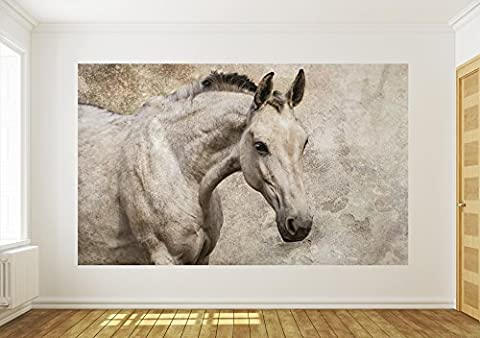 White Horse Wallpaper Mural