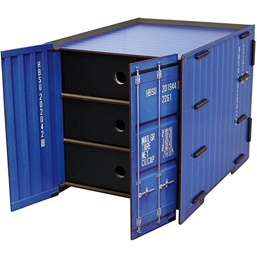 Werkhaus Container Box 3er Schublade blau
