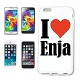 Handyhülle iPhone 6S I Love Enja Hardcase Schutzhülle Handycover Smart Cover für Apple iPhone … in Weiß … Schlan