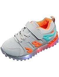 Voberry@ Unisex-Baby Toddler Luminous Led Light Mesh Sneaker Outdoor Lightweight Sports Running Shoe