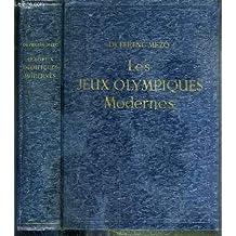 """LES JEUX OLYMPIQUES MODERNES + 1 supplement de 31 pages """"les XVIe jeux olympiques, Melbourne 1956 - 22 novembre-8 decembre, tableau des resultats"""" inclus."""