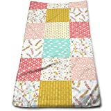 vintage cap Heater Quilt Squares Kitchen Towels - Dish Cloth - Machine Washable Cotton Kitchen Dishcloths,Dish Towel & Tea Towels for Drying,Cleaning,Cooking,Baking (12 X 27.5 Inch)
